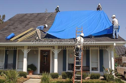 Blue Vinyl PVC Roof Tarpaulin,Roofing Cover,Roofing Tarps