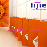 LIJIE 12mm compact laminate pink public toilet partition