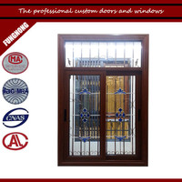 Cheap 1.2mm thick aluminum interior sliding glass window with grid