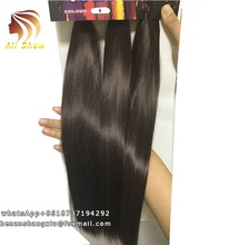 Ombre Black To Brown 3Bundles Pack 16inch Hair Weaving High Temperature Hair Weft Synthetic Hair Weave Straight Bundles