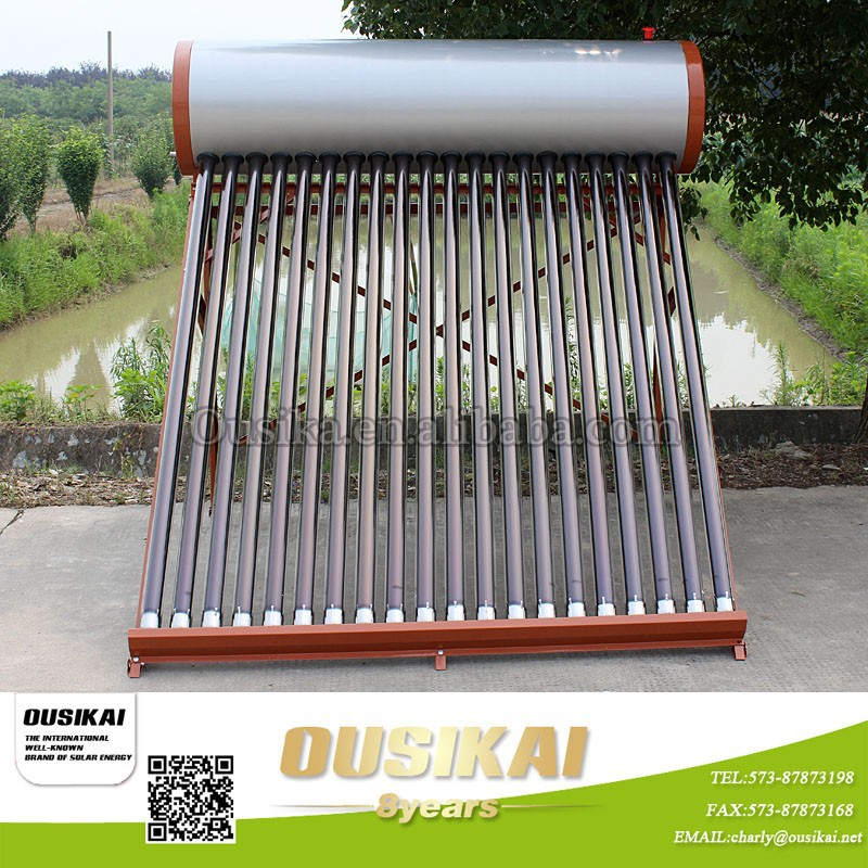 Haining Ousikai Non-Pressure Stainless Steel water solar Heater /Calentador de agua solar
