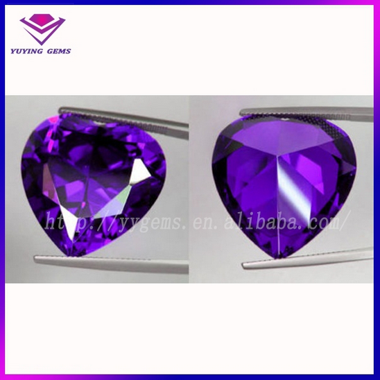 amethyst loose stone gem price heart imitation cz diamond