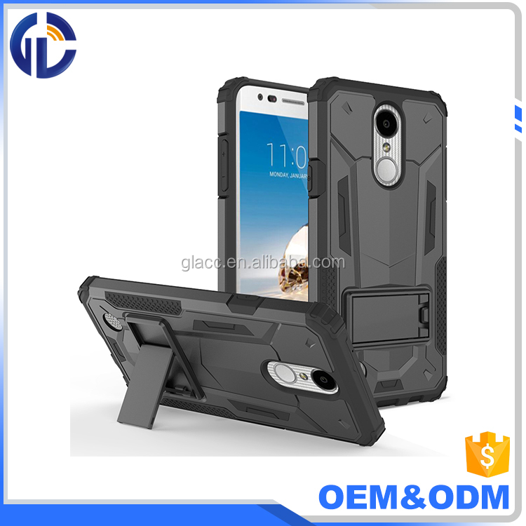 Hybrid TPU+PC Armor Kick Stand Phone Accesories Case for LG K20 Plus / K10 2017
