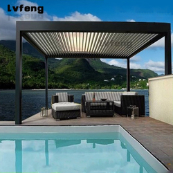 Adaptability Commercial Cheap Balcony Wire Waterproof Louvered Pergola