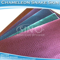 UV Proof Car Stickers Steelblue Chameleon Snake Oem Car Sticker Decals 1.52x30m