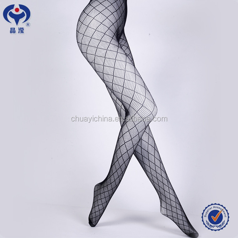 wholesale fashion mature women black nylon silk stockings jy