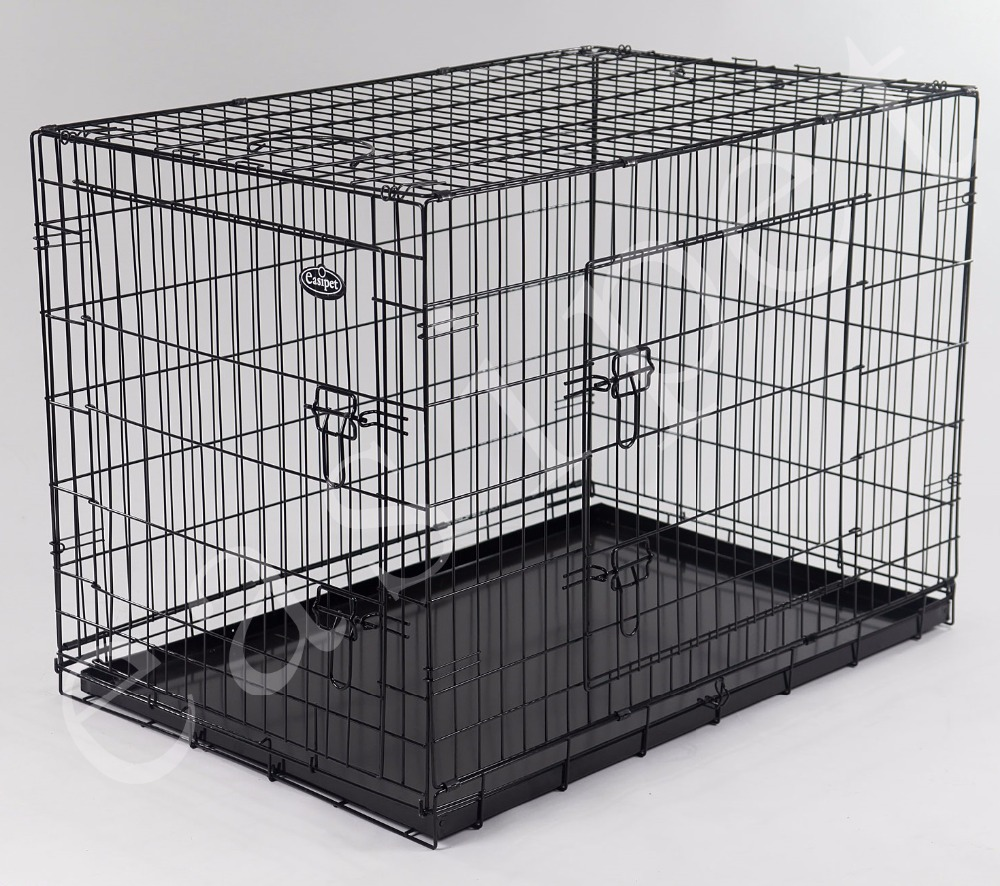 "42"" Dog Cage, Black Finish"