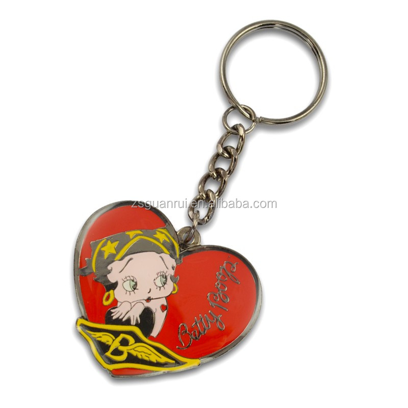 Gold plating metal keychain