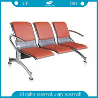 AG-TWC003 Three seats stainless steel material hospital waiting chair