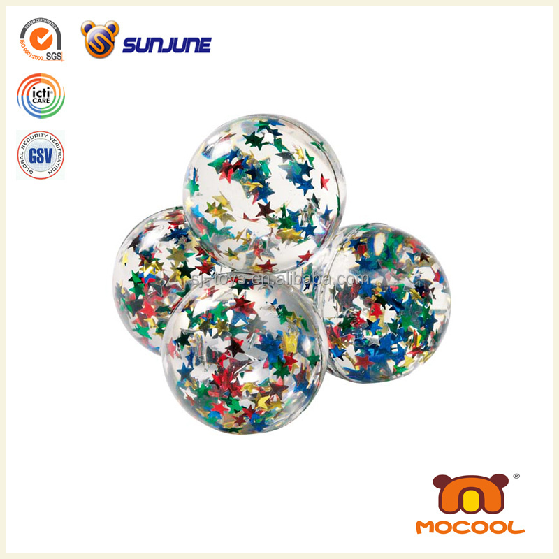 Wholesale eyeballs water ball, TPU glitter bouncing ball, led ball