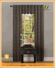 New style three pieces linen blackout curtain set with eyelets top for window decorational