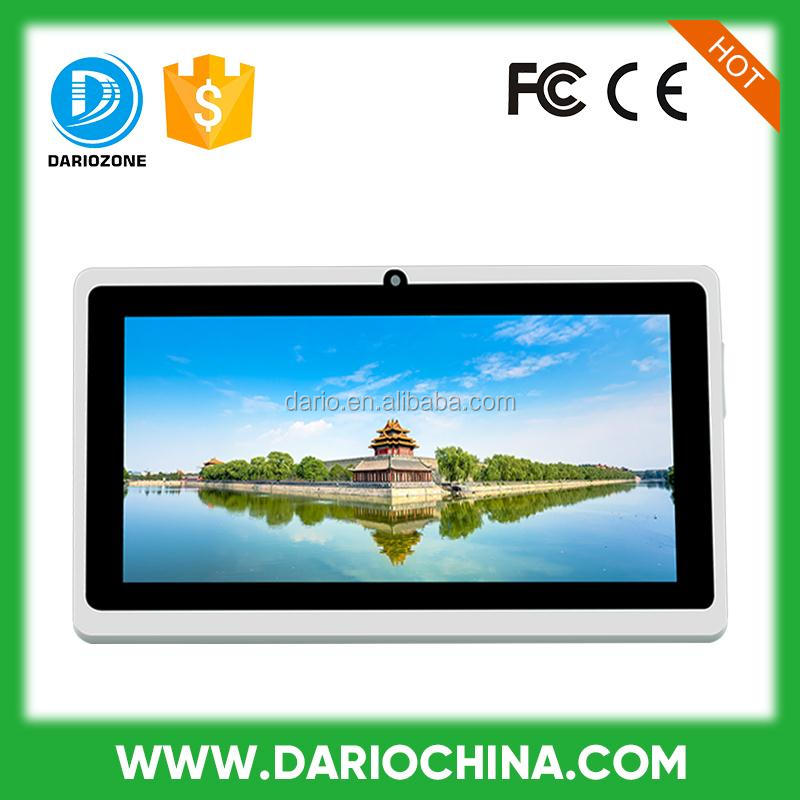 Tablet pc very cheap 7 inch android allwinner Q88 mini laptop computer download app google play store