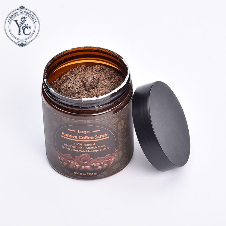 Pure Arabica Coffee Body Scrub Natural SPA Exfoliating Best for Acne,Anti Cellulite and Stretch Mark treatment, Age Spots