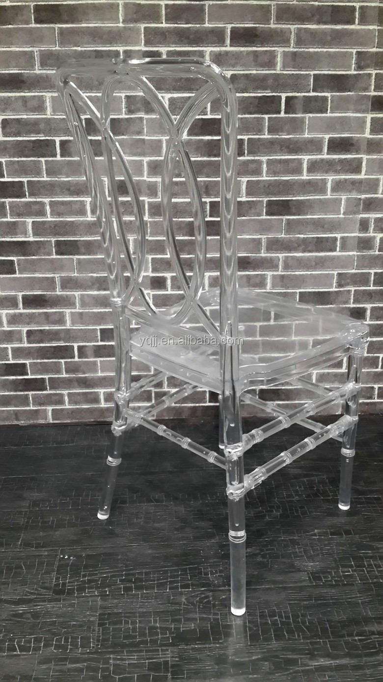 New design crystal clear wedding and event chairs