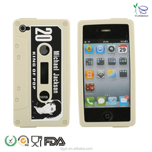 ODM 3D cassette tape silicone phone case for online shopping