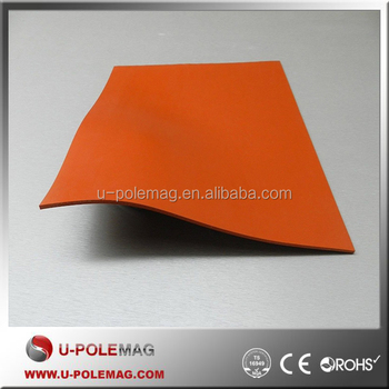HIGH TEMP SILICON RUBBER SHEET SOLID REDORANGE COMMERCIAL GRADE
