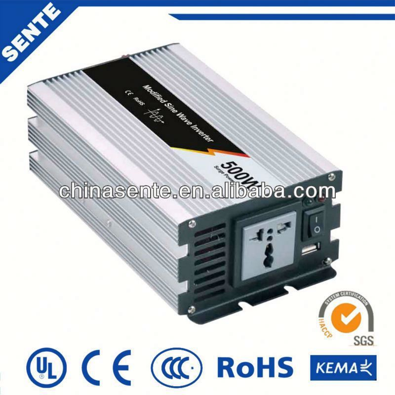High quality 500w modified sine wave voltage regulator inverter 12vdc to 220vac with a warranty of 18 months