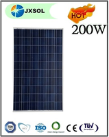 Best pv supplier high quality 10 years warranty price for solar panel,poly 200w solar panel