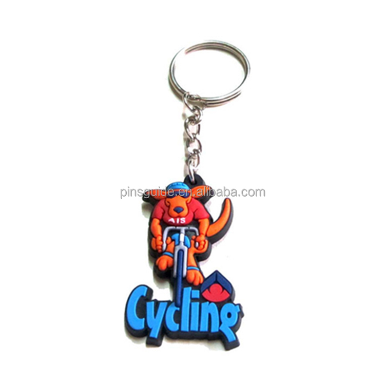 Manufacturer Single Side Fruit Charm Logo Blank 3D Custom Soft PVC Keychain