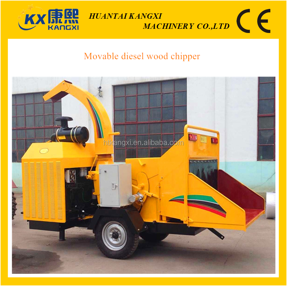 diesel driving wood log chipper machine or portable wood chipper in different capacity manufacturer