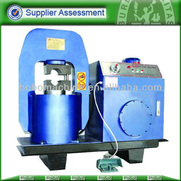 Hydraulic steel wire rope swaged machine