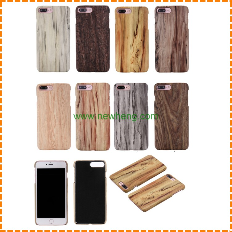 custom wood pattern PU smart mobile phone cover for iphone 7 plus