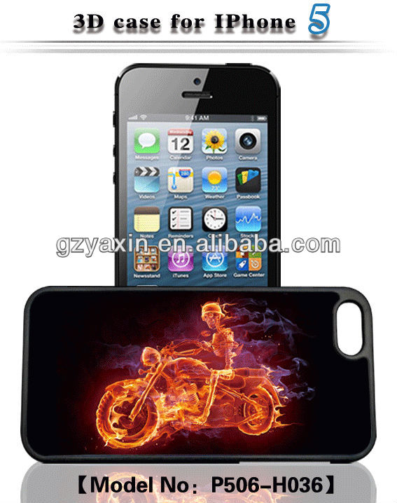 3d phone case for iphone 4/5/5s/5c,3d cases for iphone 5 case/accept small mix order OEM printing