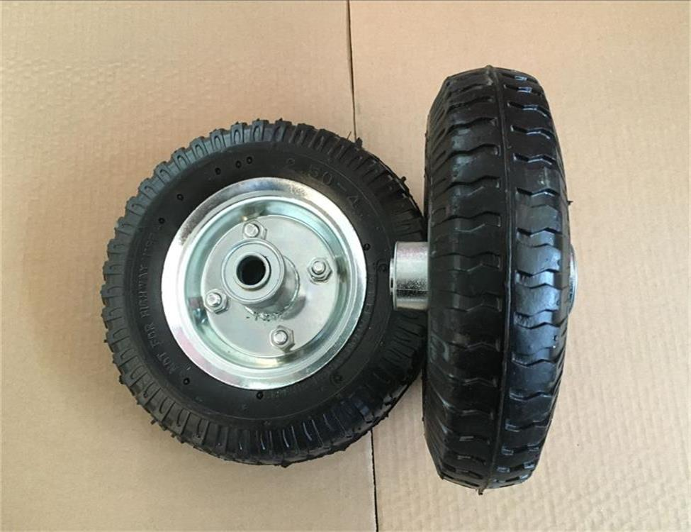 Pneumatic rubber wheel 2.50-4 with metal rim