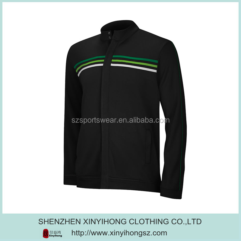 Black Color Polyester Breathable Fitness Famous Brand Jackets For Men