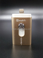 USB 2.0 high capacity golden iflash driver secured storage for IOS& Mac