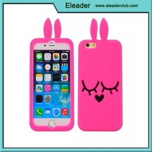 For iphone 6 silicone bunny rabbit 3D case