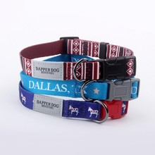 Low price custom sublimation dog collar with printed logo