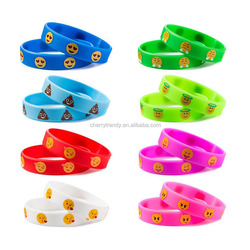 Emoji Wristbands Bracelet Silicone Wristband Bracelet With Emojis Birthday Party Favors