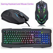 Professional 2.4G Wireless Gaming Keyboard and Mouse Combo with LED light for Computer