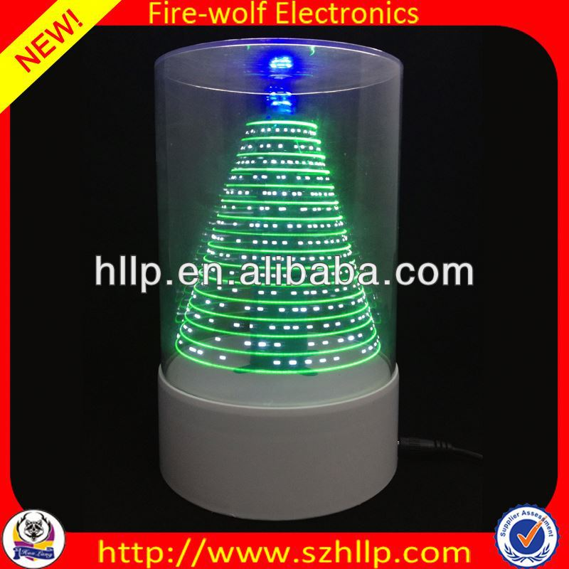 2014 hot sale wholesale led 3D usb led modern christmas tree lamp manufacture