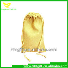 Small jute gunny drawstring bag