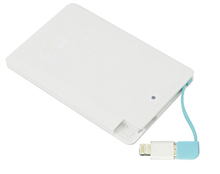 Hot products smart credit card portable mobile power bank 2600mah
