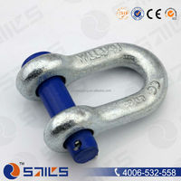 rigging d type galvanized anchor shackle