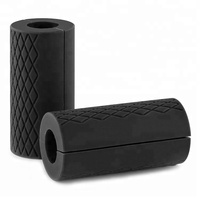 pair of non-slip thick fat bar grips silicone rubber barbell grips