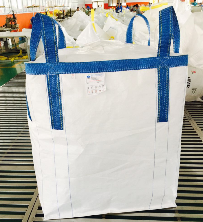 2018 Coated FIBC big bag filling spout with covering cloth, Safty factor 5:1 standard jumbo bag pp folding big bag 1.5 ton