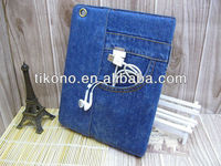 Cool jeans style stand phone case for apple ipad mini