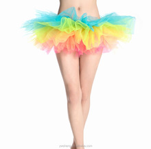 China Yiwu Factory Supplier OEM Service Design Mini Pictures Mature Women Ballet Tutu Skirt
