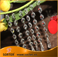 New design crystal bead chain for wedding & event decoration