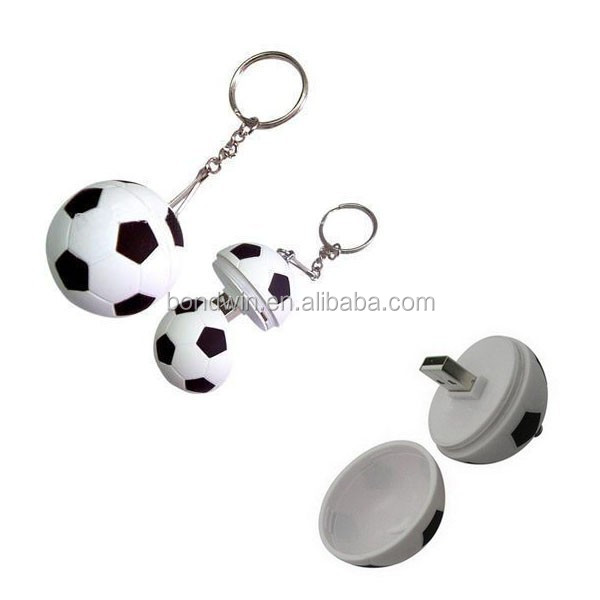 Hot selling plastic football 8gb usb key