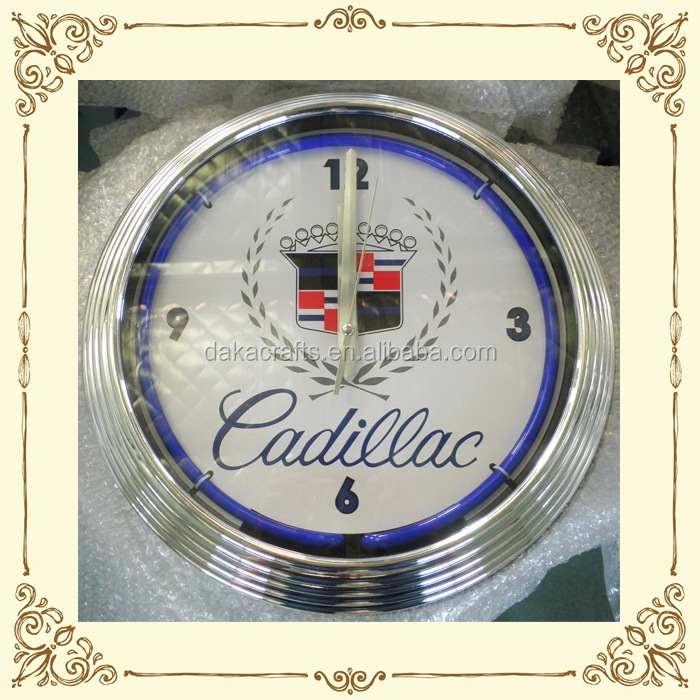 Various styles innovative wholesale custom neon wall clock