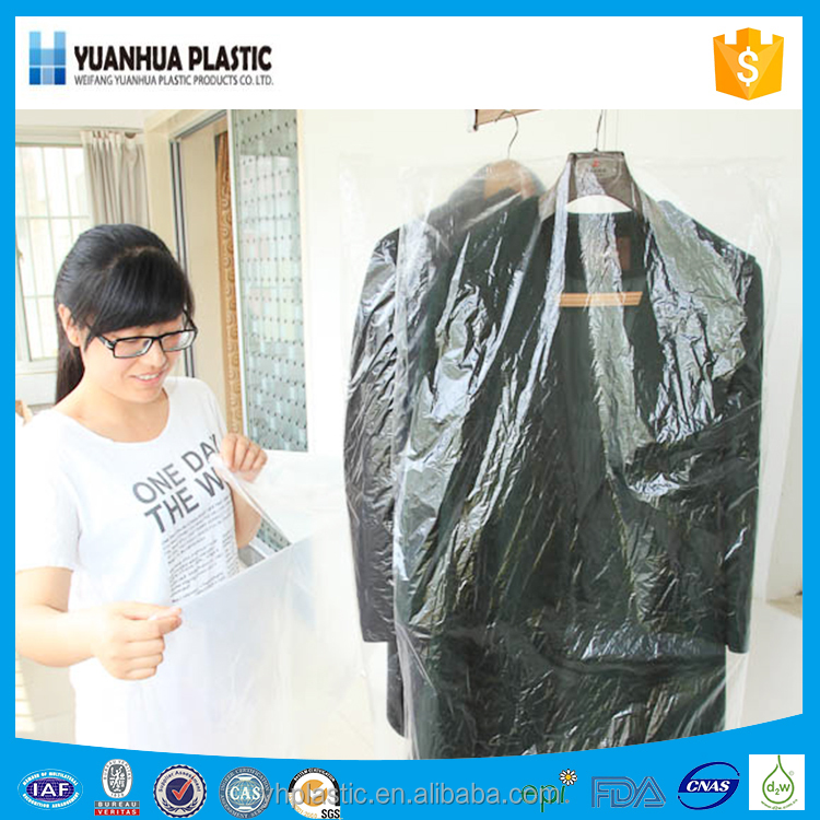 Clear pe/plastic packaging bags for garment bag fashion