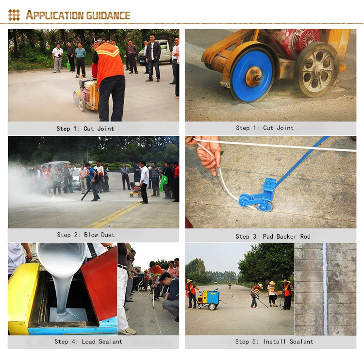 OEM top-class performance Solvent Free cement color Construction floor and sidewalk joints Polyurethane sealants