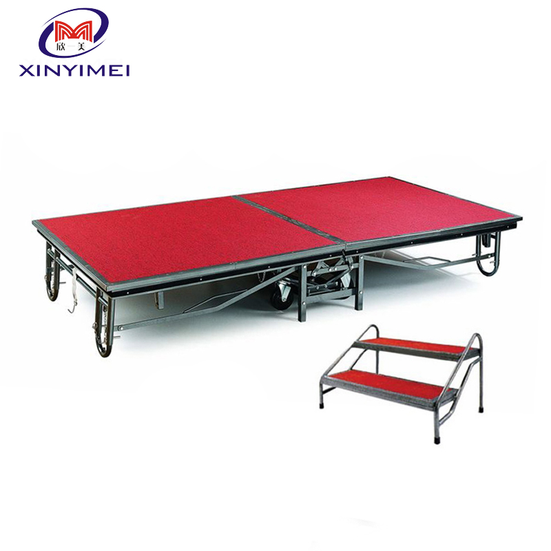 Factory directly sale strong folding portable banquet mobile <strong>stage</strong> for hotel