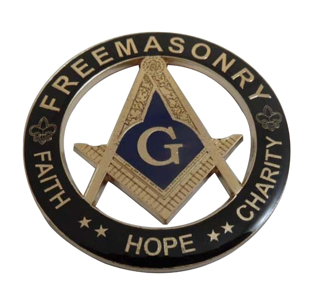 Custom masonic metal car emblem car logo