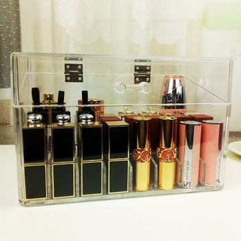 hot sale acrylic makeup organizer with drawers display storage box
